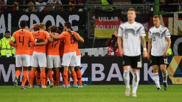 Belanda Curi Poin Penuh di Kandang Jerman